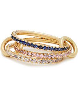Aurora Sapphire, Tanzanite & Yellow-gold Ring
