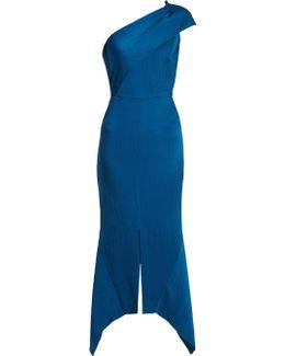 Harlow One-shoulder Hammered Silk Dress