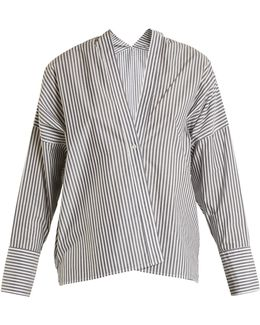 Sabine V-neck Striped Shirt