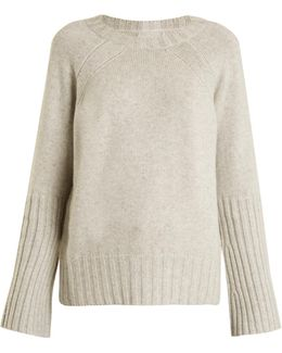 Elise Ribbed-cuff Cashmere-knit Sweater
