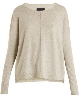 Sivan Boat-neck Cashmere-knit Sweater