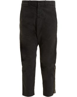 Jackson Tapered-leg Cotton-blend Cropped Trousers