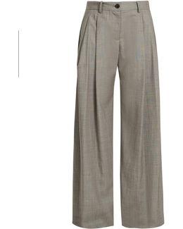 Inex Wide-leg Wool Trousers