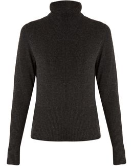 Margot Roll-neck Cashmere-knit Sweater