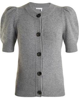 Iconic Puff-sleeved Cashmere Cardigan