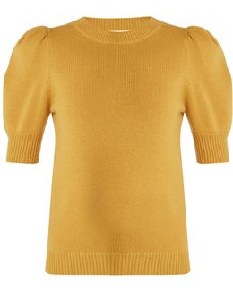 Iconic Puff-sleeved Cashmere Sweater