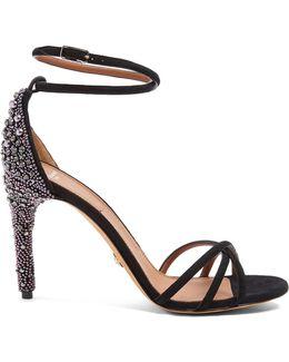 Classic Crystal-embellished Suede Sandals
