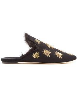 Ragno Embroidered Slipper Shoes