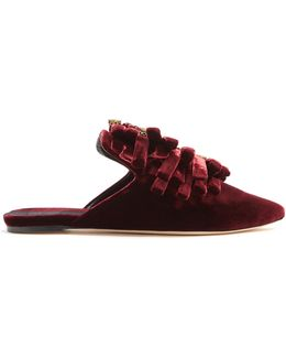 Drina Velvet Slipper Shoes