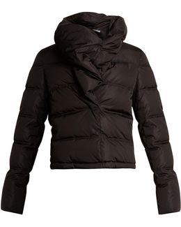 High-neck Quilted Jacket