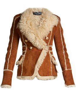Oversized-lapel Shearling Jacket