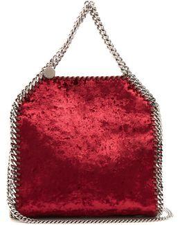 Falabella Mini Crushed-velvet Cross-body Bag