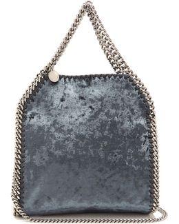 Falabella Crushed-velvet Mini Cross-body Bag