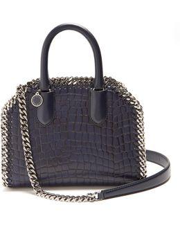 Falabella Box Crocodile-effect Top-handle Bag