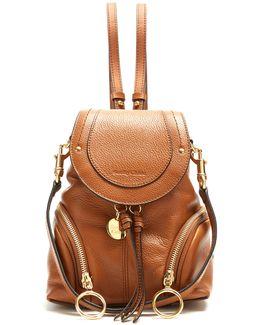 Olga Grained-leather Backpack