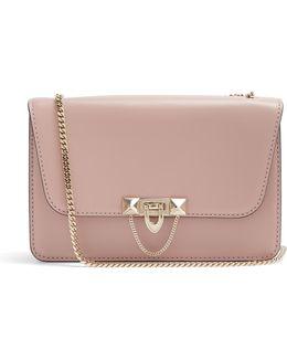 Demilune Leather Shoulder Bag