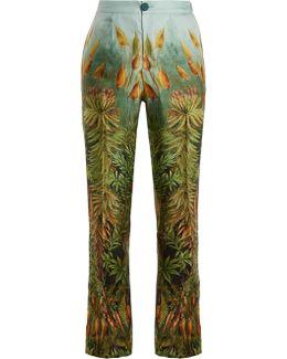 Crono Floral-print Silk-twill Pyjama Trousers