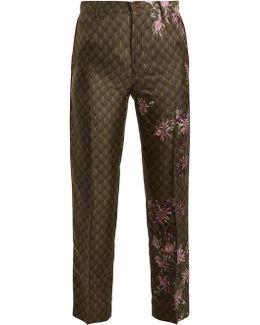 Tartaro Floral-print Satin Pyjama Trousers