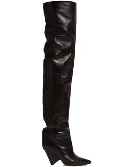 Lostynn Leather Over-the-knee Boots