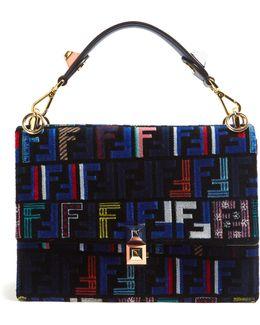 Kan I Logo-print Velvet Shoulder Bag
