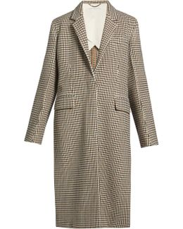 Harper Notch-lapel Checked Coat