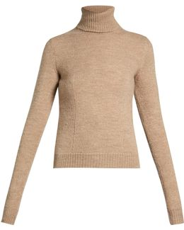 Roll-neck Knit Sweater