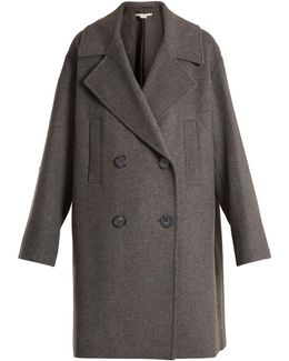 Imelda Oversized Double-breasted Wool-blend Coat