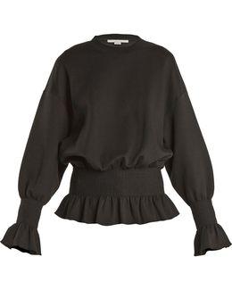 Ruffle-trimmed Cotton-blend Sweatshirt
