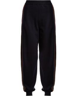 Contrast-panel Wool Track Pants