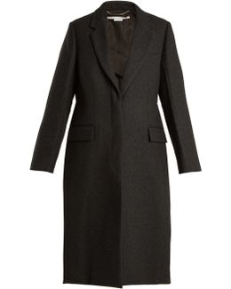 Oversized Single-breasted Wool Coat