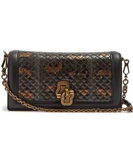 Knot Intrecciato-leather Cross-body Bag