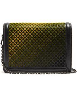 Montebello Criss-cross Velvet Cross-body Bag