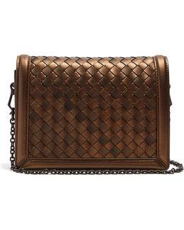 Montebello Intrecciato Leather Cross-body Bag