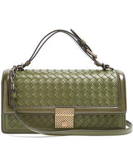 Intrecciato-woven Leather Bag