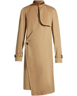 Asymmetric Neck-strap Trench Coat