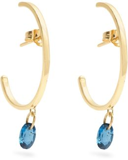 Topaz & Yellow-gold Earring