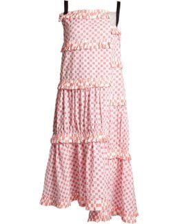 Tiered Checkerboard-print Dress