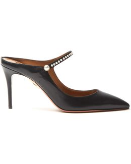 Nolita Leather Backless Mules