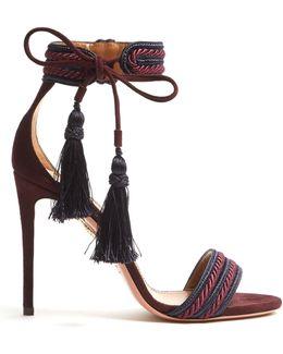 Shanty Suede Tassel Sandals