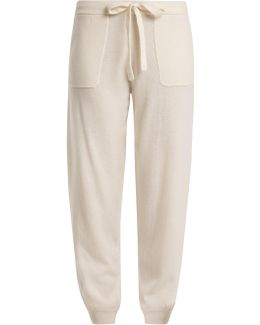 Tie-waist Wool And Cashmere-blend Track Pants