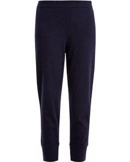 Mid-rise Cropped Cashmere Track Pants