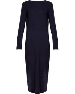 Long-sleeved Wool And Cashmere-blend Dress