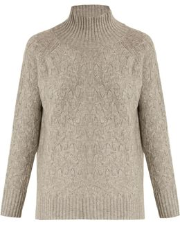 High-neck Wool And Cashmere-blend Sweater