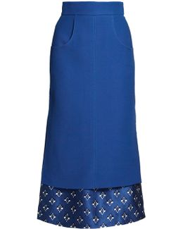 Double-layer Gazar And Satin Skirt