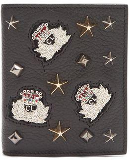 Paros Embellished Bi-fold Leather Wallet