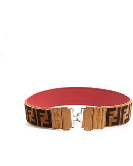 Logo Shearling Belt