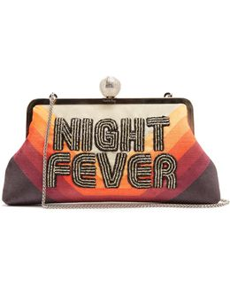 Night Fever Bead-embellished Clutch