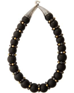 Onyx And Cubic-zirconia Necklace