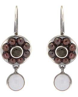 Stone-embellished Sterling-silver Earrings