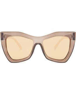 Kick It Oversized Mirrored Sunglasses